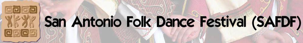 San Antonio Folk Dance Festival (SAFDF) Logo